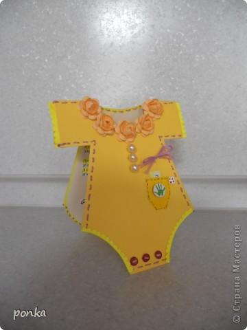 Открытка для новорожденного фото 2