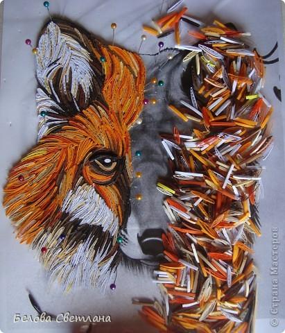 Здесь МК,который я сделала для Хомячка! http://homyachok-scrap-challenge.blogspot.com/2012/07/blog-post_19.html  Давно мечтала сделать какое-нибудь животное петельчатым квиллингом....!!!! Любовалась в Стране на тигров, леопардов, кошечек... были и лиса и зебра и лев и олень, собаки и много-много других красавцев...!!! Решилась и я... фото 2