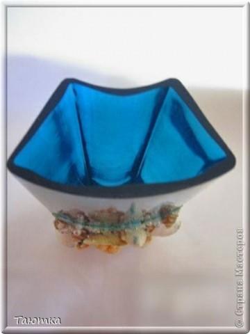 Долго не могла придумать, что сделать с вазочкой, но очень нравился цвет и форма необычная) Спасибо вдохновению, за очередное посещение)))  фото 5
