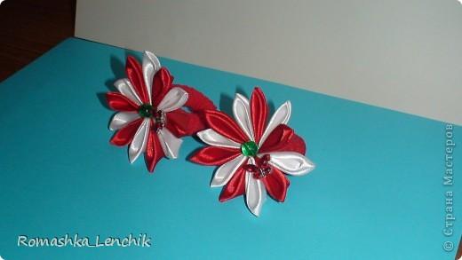впервые я попыталась создать цветы в технике канзаши.  очень довольна результатом. А как поднимает настроение!!! просто фантастика фото 2