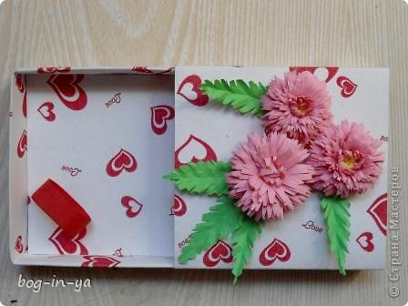 Вот и еще одна коробочка дождалась своего праздничного наряда. Спасибо Ольге Ольшак за ее мастер-класс по астрочкам. фото 2