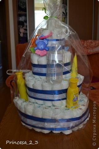 Тортик из памперсов. фото 2