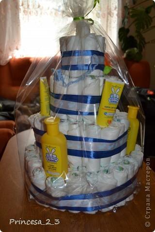 Тортик из памперсов. фото 3