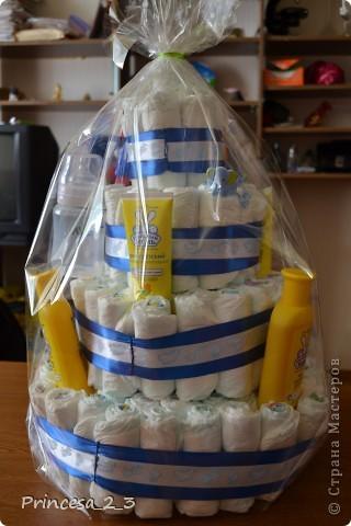 Тортик из памперсов. фото 4