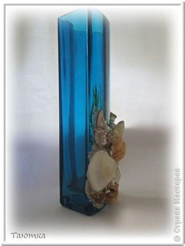Долго не могла придумать, что сделать с вазочкой, но очень нравился цвет и форма необычная) Спасибо вдохновению, за очередное посещение)))  фото 4