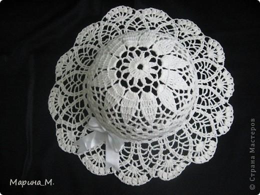Вязаные летние шляпы Нитки