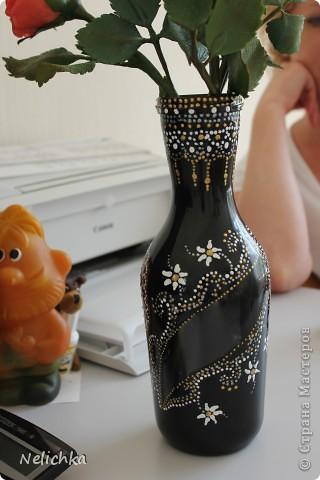 Ваза для роз готова. Вторая попытка сделать вазу при помощи техники поинт и поинт. фото 3