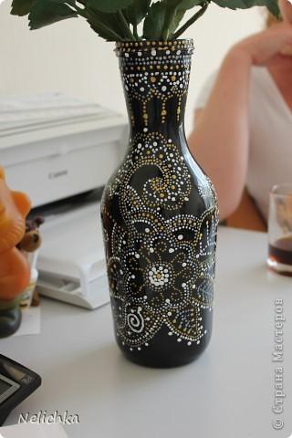 Ваза для роз готова. Вторая попытка сделать вазу при помощи техники поинт и поинт. фото 2