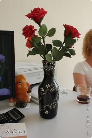 Ваза для роз готова. Вторая попытка сделать вазу при помощи техники поинт и поинт. фото 1