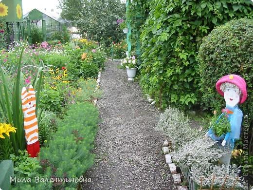 Хочу познакомить Вас, с небольшой частью своих садовых поделок.  Много идей не моих, черпаю из журналов и инета.Лебеди из пленки. Идея не моя Светланы Антаковой, у нее есть МК. фото 12