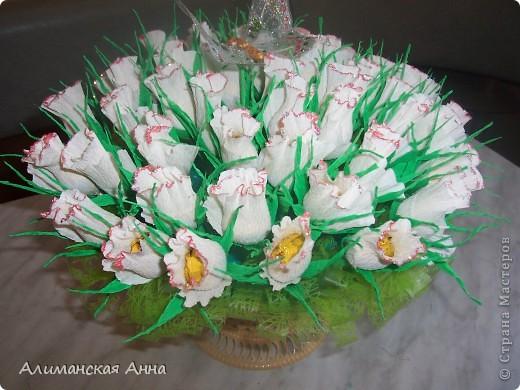 сладкий букет(50 роз) фото 5