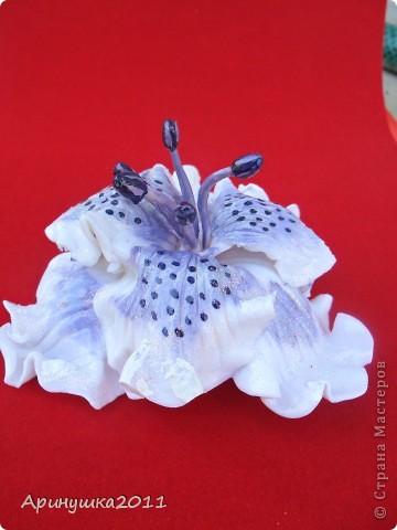 Первый цветок из пластики-и сразу на выпускной племянницы! фото 4