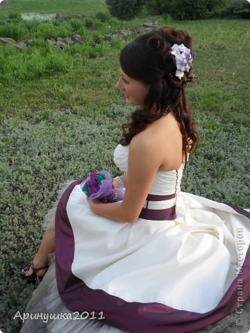 Первый цветок из пластики-и сразу на выпускной племянницы! фото 3