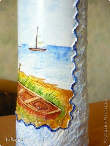 Давно хотела сделать морскую бутылочку. И вот представляю на ваш суд моё творение.  фото 2