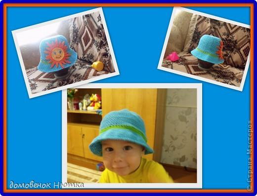 Полосатая панамка. Примеряет мой любимый племяник. фото 4