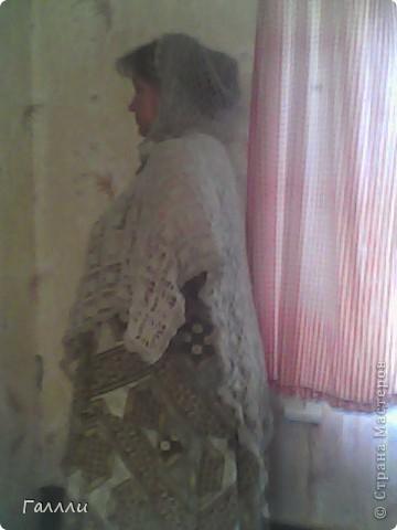 пончо с капюшоном фото 3
