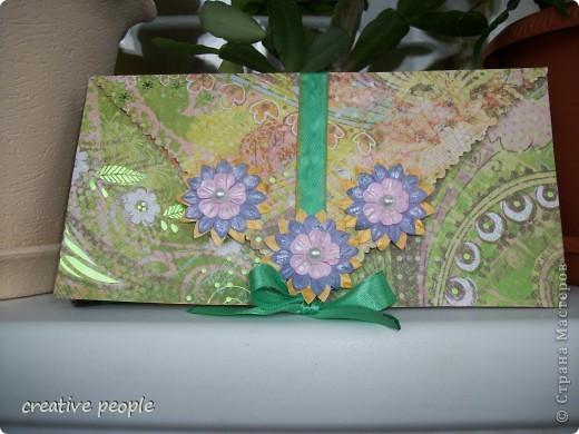 Мой первый конверт для денег в технике Скрапбукинг! фото 1