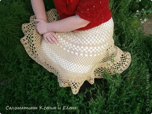 Вот и я довязала свою долгожданную юбку.  Пусть это фото поучавствует в конкурсе. фото 11