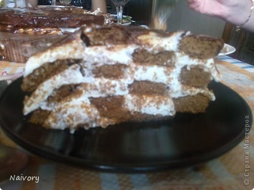 """Приготовила на день рождения любимого человека торт """"Шахматная королева"""". Вкуснятина необыкновенная!!!!!!! фото 1"""