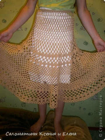 Вот и я довязала свою долгожданную юбку.  Пусть это фото поучавствует в конкурсе. фото 10