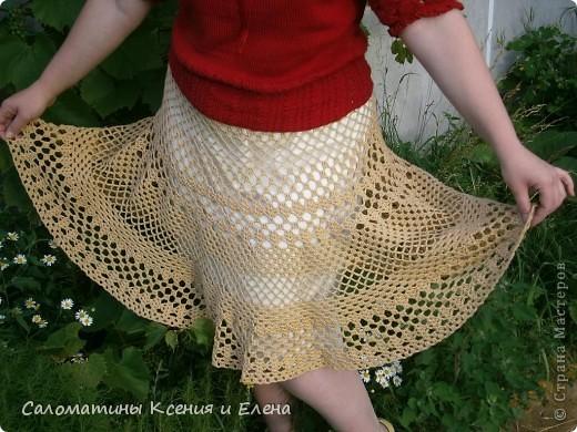 Вот и я довязала свою долгожданную юбку.  Пусть это фото поучавствует в конкурсе. фото 12