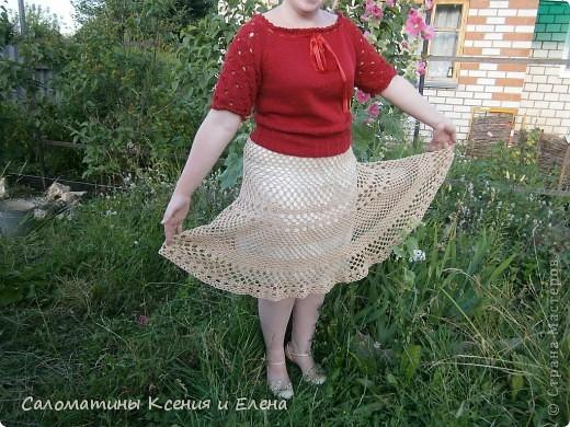 Вот и я довязала свою долгожданную юбку.  Пусть это фото поучавствует в конкурсе. фото 13