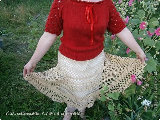 Вот и я довязала свою долгожданную юбку.  Пусть это фото поучавствует в конкурсе. фото 14
