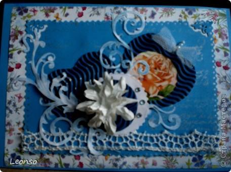 "Сделана по МК Akvarel ""Открытка с оторванным уголком"" (handmade cards)http://my.mail.ru/community/handmade_kard/http://my.mail.ru/community/handmade_kard/ фото 2"