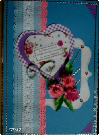 "Сделана по МК Akvarel ""Открытка с оторванным уголком"" (handmade cards)http://my.mail.ru/community/handmade_kard/http://my.mail.ru/community/handmade_kard/ фото 3"