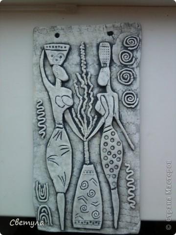 У меня картины в африканском стиле, вот, решила добавить к ним панно. фото 2