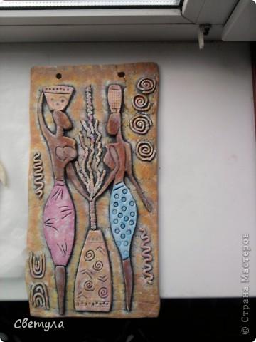 У меня картины в африканском стиле, вот, решила добавить к ним панно. фото 1