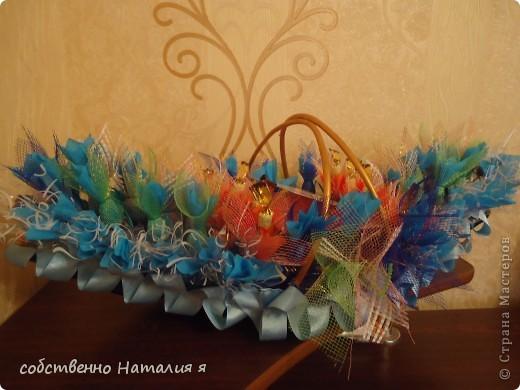 корзинка со сладостями на именины фото 3