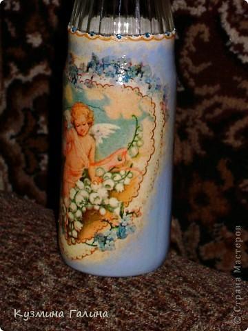 Родилась у меня вот такая бутылочка для святой воды в подарок своей подруге фото 3