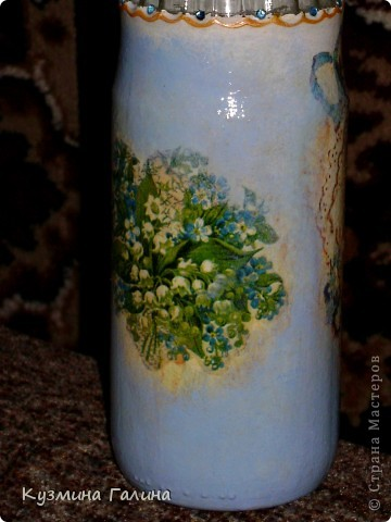 Родилась у меня вот такая бутылочка для святой воды в подарок своей подруге фото 4