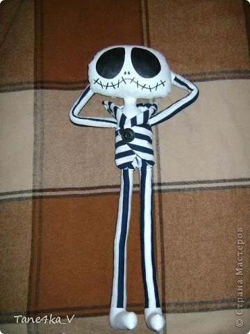 """Вот такой Джек, из мультика """"Кошмар перед Рождеством"""", получился в подарок мужу на ДР :) фото 7"""