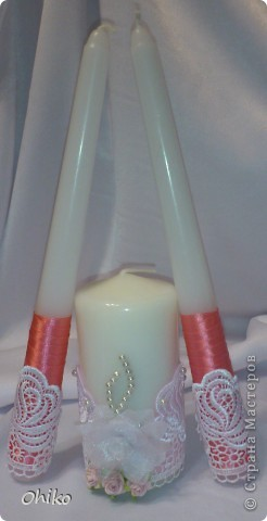 Подружке в подарок на свадьбу делаю наборчик. Вот представляю бокальчики и свечи для обряда очаг. Делаю все впервые, очень переживаю, понравится или нет.  Все вместе  фото 2