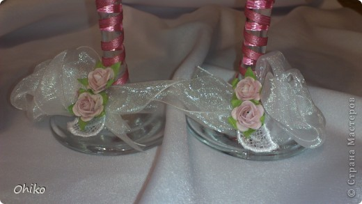 Подружке в подарок на свадьбу делаю наборчик. Вот представляю бокальчики и свечи для обряда очаг. Делаю все впервые, очень переживаю, понравится или нет.  Все вместе  фото 5
