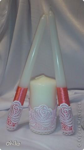 Подружке в подарок на свадьбу делаю наборчик. Вот представляю бокальчики и свечи для обряда очаг. Делаю все впервые, очень переживаю, понравится или нет.  Все вместе  фото 3