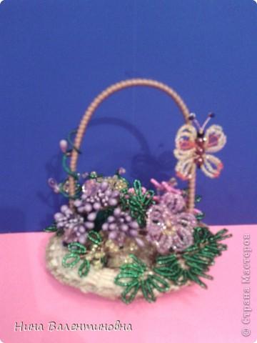 Корзинка с цветами. фото 3