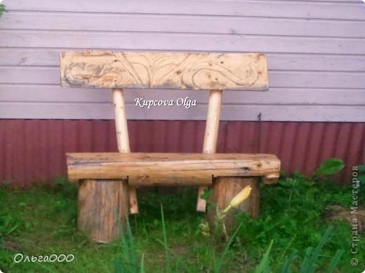Вот такой стульчик сделал мой папа для дачи,чтоб сидеть около мангала фото 3