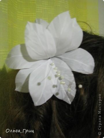 Делали цветок  для выпускного. фото 2