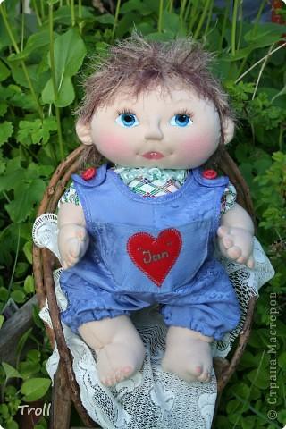 """Текстилные куклы-так сказат """"первая проба пера"""" фото 4"""