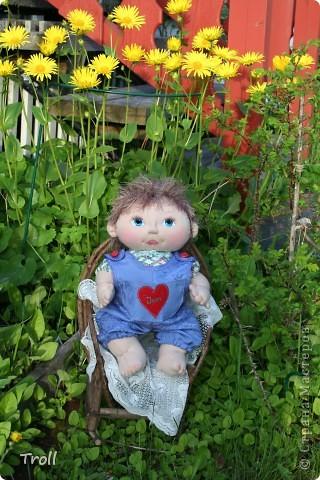 """Текстилные куклы-так сказат """"первая проба пера"""" фото 5"""