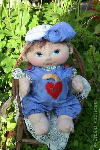 """Текстилные куклы-так сказат """"первая проба пера"""" фото 6"""