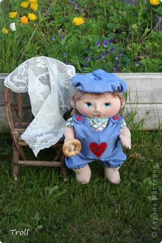 """Текстилные куклы-так сказат """"первая проба пера"""" фото 8"""