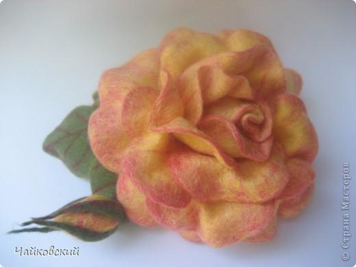 Цветы из шерсти фото 6