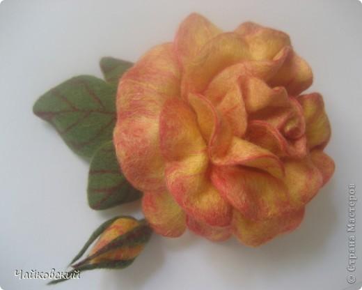 Цветы из шерсти фото 8