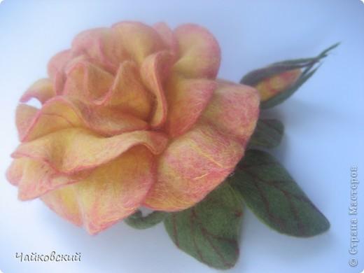 Цветы из шерсти фото 9
