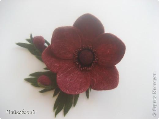 Цветы из шерсти фото 28