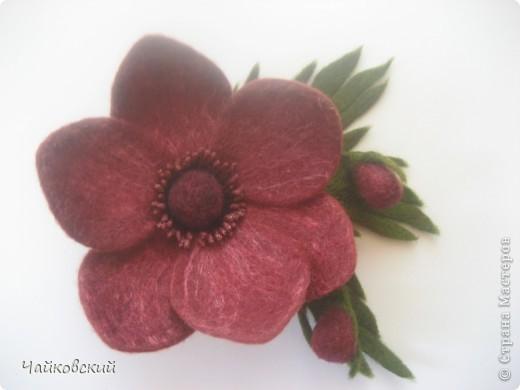 Цветы из шерсти фото 29
